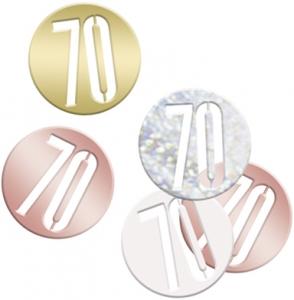 Rose Gold Glitz 70th Confetti