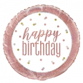 Rose Gold Glitz Birthday Foil UNINFLATED