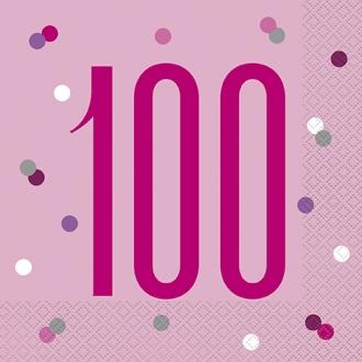Pink Glitz 100 Napkins
