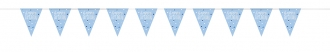 Blue Glitz Birthday Bunting