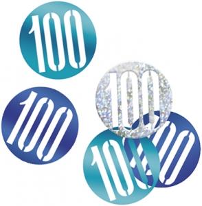 Blue Glitz 100 Confetti
