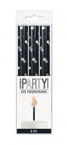 Black Glitz Ice Fountain