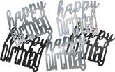 Black Glitz Birthday Confetti