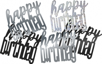 Black Glitz Birthday Confetti