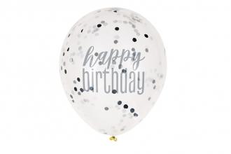 Black Glitz Confetti Balloons