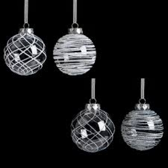 Clear with White Bauble
