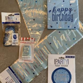 Blue Glitz Birthday Pack
