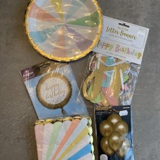 Elegant Pastel Birthday Pack