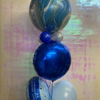 Blue Glitz Orb Bouquet