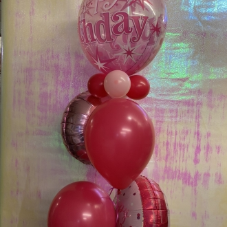 Pink Glitz Bubble Bouquet