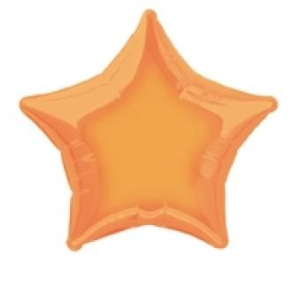 Orange Foil Star Balloon
