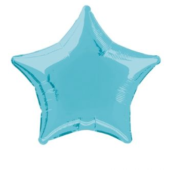 Baby Blue Foil Star Balloon