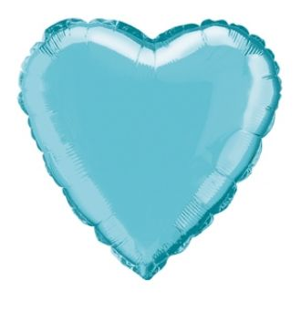 Baby Blue Foil Heart Balloon