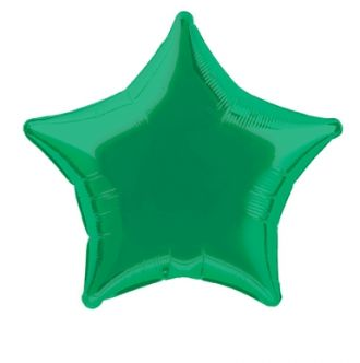 Emerald Green Foil Star Balloon