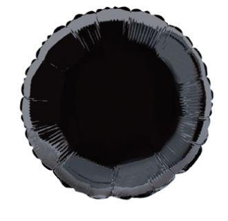 Black Foil Round Balloon