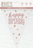 Rose Gold Glitz Birthday Pennant