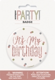 Rose Gold Glitz Birthday Badge