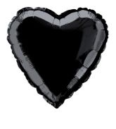 Black Foil Heart Balloon